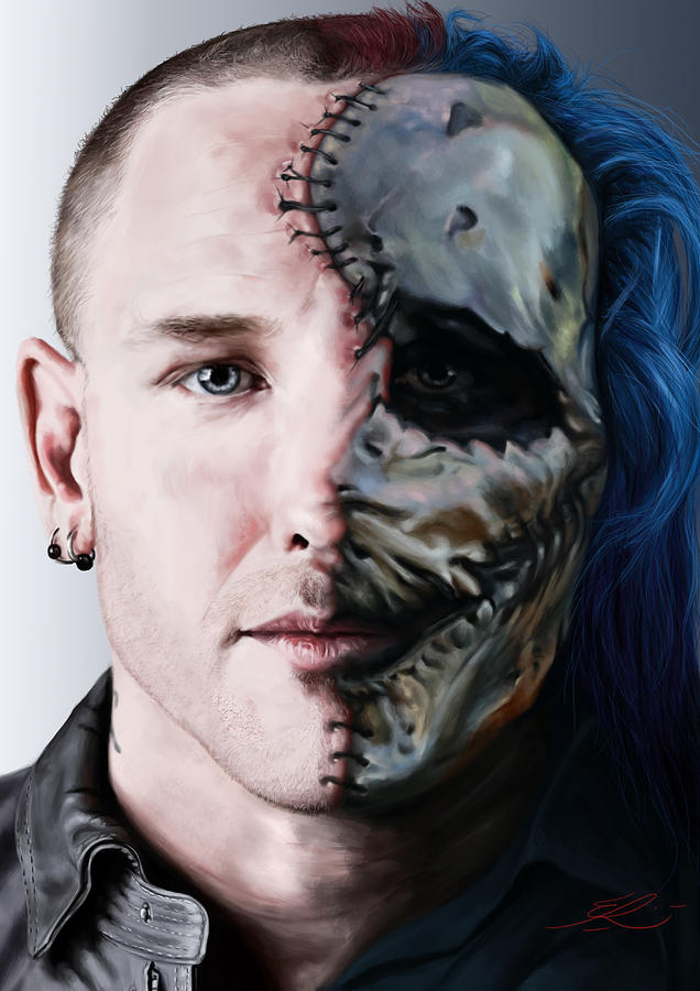 Corey taylor painting by eber riera - Riera taylor ...