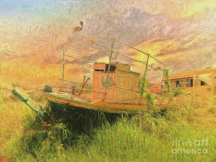 Painterly Photograph - Corfu 25 High And Dry by Leigh Kemp
