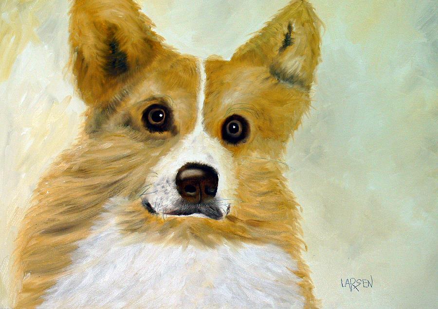 Corgi Painting by Dick Larsen