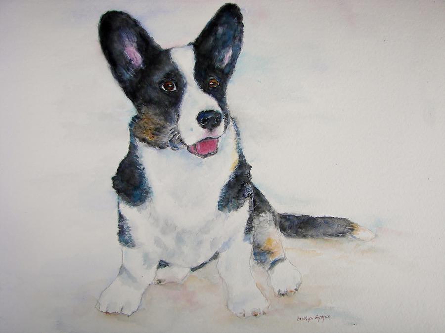 Corgi Puppy Painting