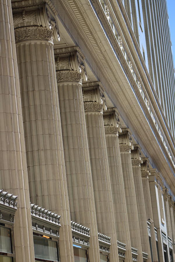 Corinthian Columns Photograph - Corinthian Columns of Union Station Chicago by Colleen Cornelius