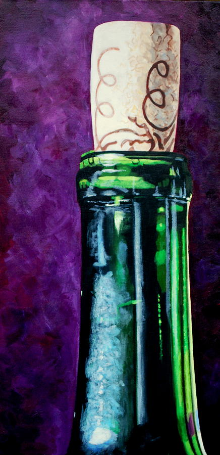 Red Wine Painting - Corked by Melanie Cossey