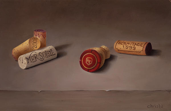 Still Life Painting - Corks by Christa Eppinghaus