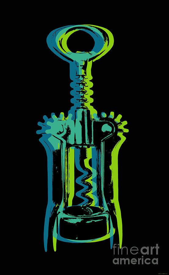 Corkscrew Digital Art - Corkscrew by Jean luc Comperat