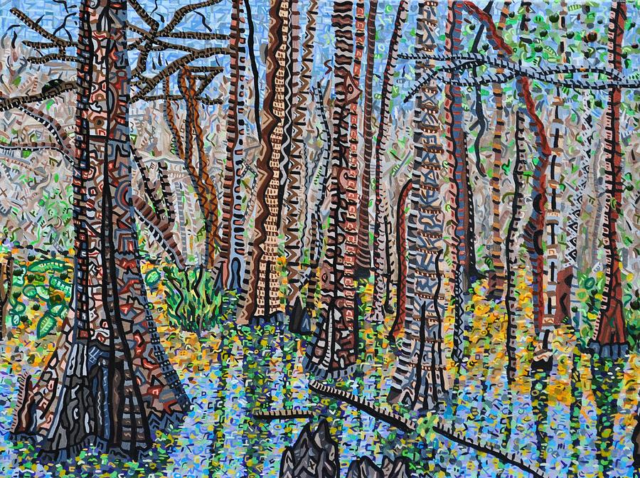 Corkscrew Swamp Sanctuary Painting - Corkscrew Swamp Sanctuary by Micah Mullen