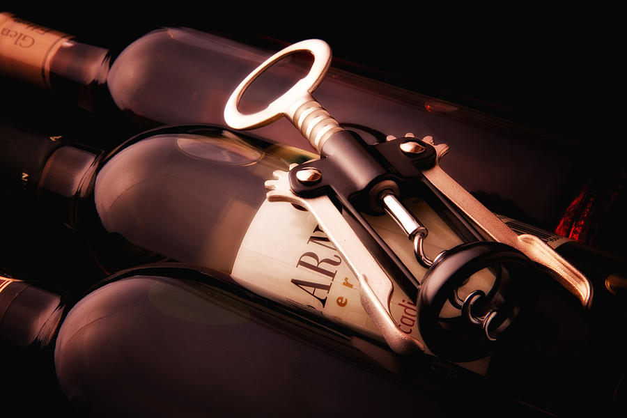 Wine Photograph - Corkscrew by Tom Mc Nemar