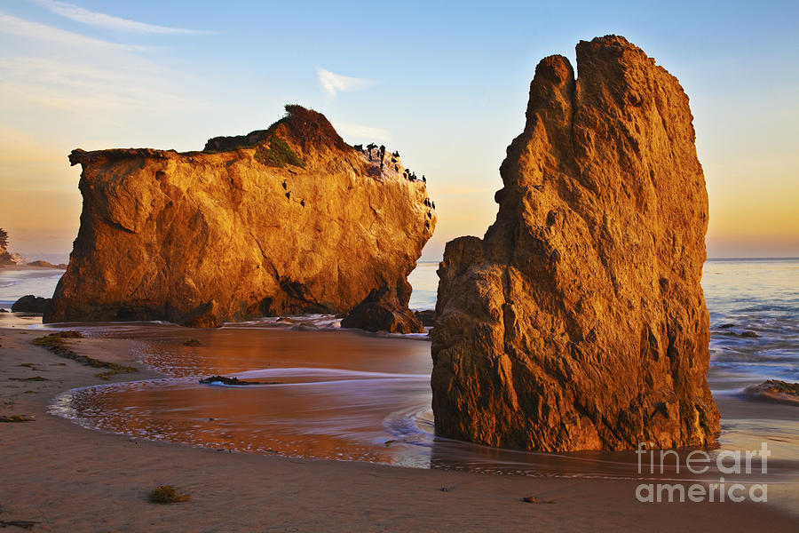 Beaches Photograph - Cormorant Roost Before Sundown by Greg Clure