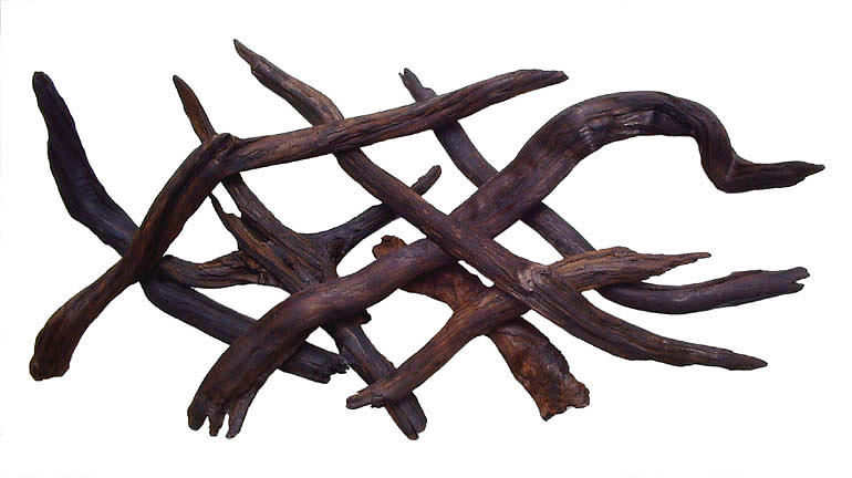 Wall Hangings Sculpture - Cormorants In Flight - Abstract Redwood Wall  by Daryl Stokes