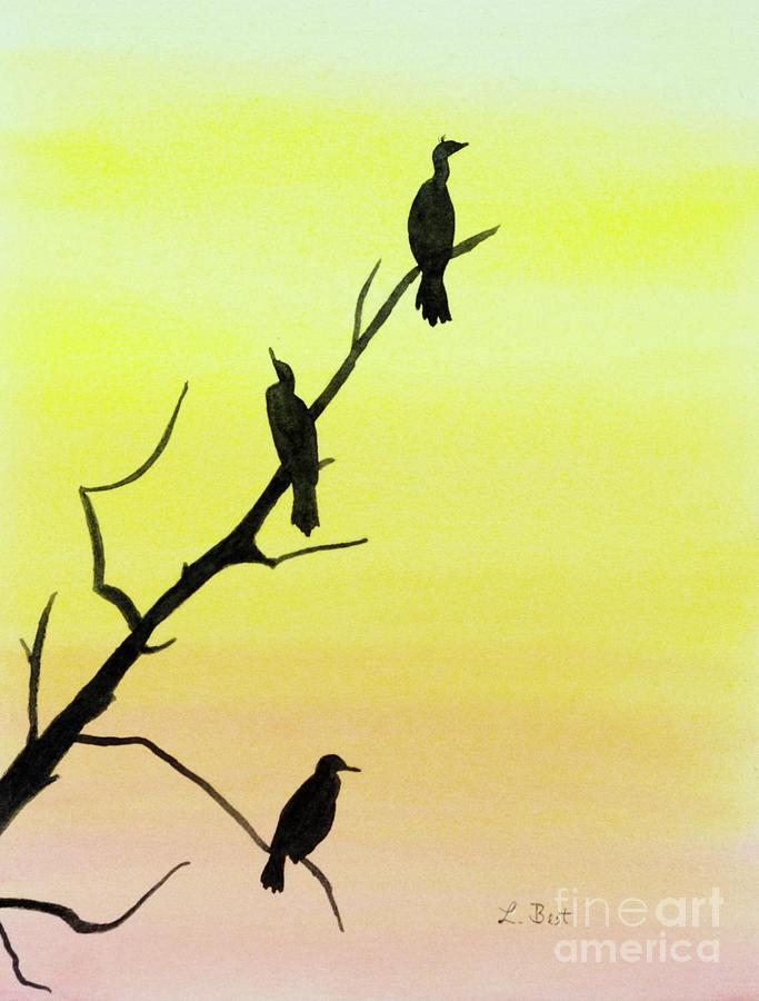 Cormorant Painting - Cormorants by Laurel Best