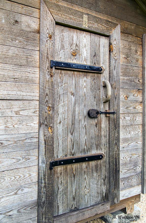 2d Photograph - Corn Crib Door by Brian Wallace & Corn Crib Door Photograph by Brian Wallace