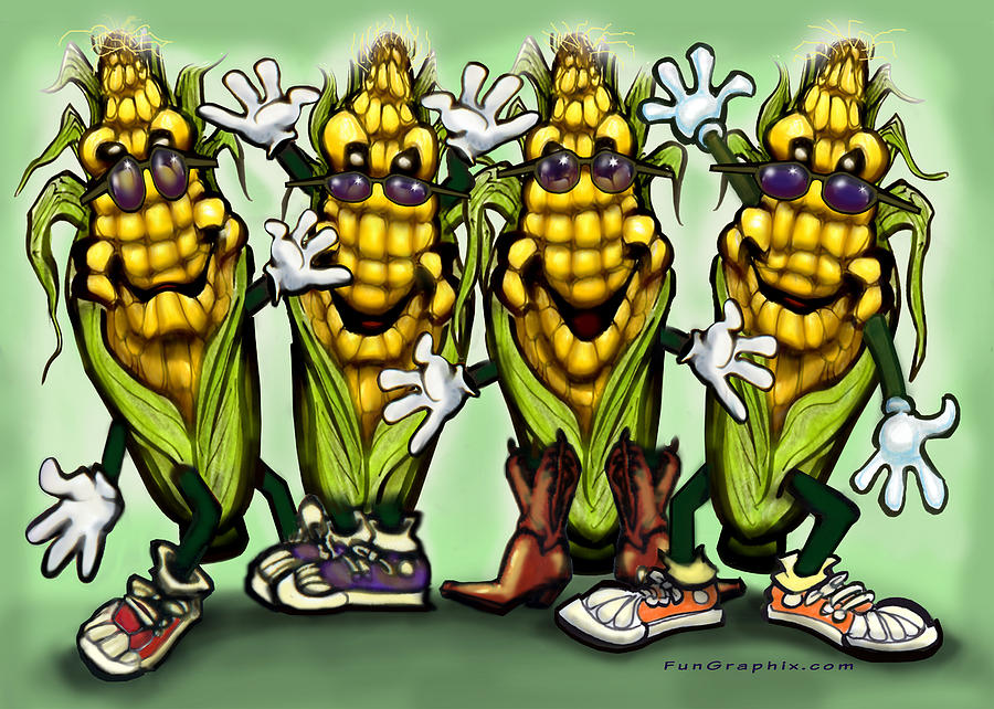 Corn Digital Art - Corn Party by Kevin Middleton