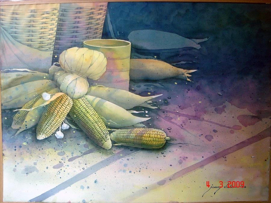 Food Painting - Corn by Vistas
