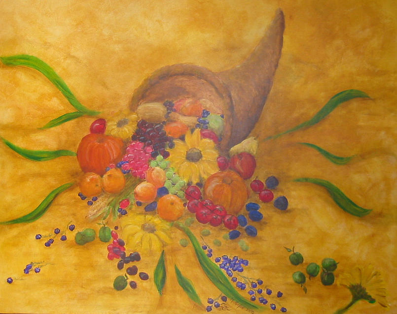 Mural Painting - Corne D by Margot Koefod