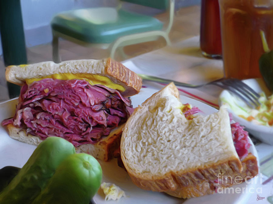 Corned Beef Photograph - Corned Beef On Rye by Jeff Breiman