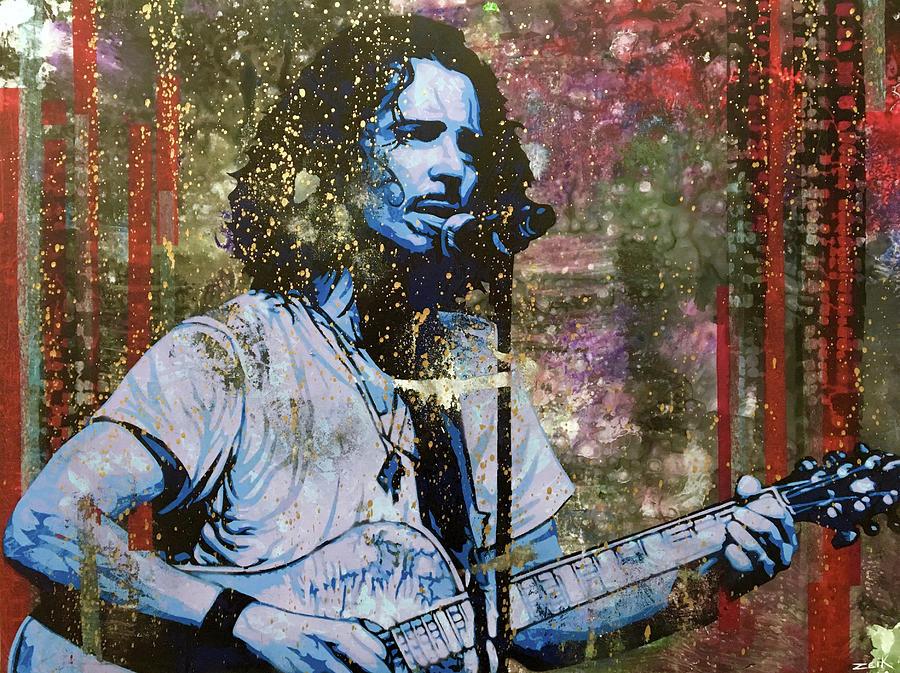 Chris Cornell Painting - Cornell - Steel Rain by Bobby Zeik