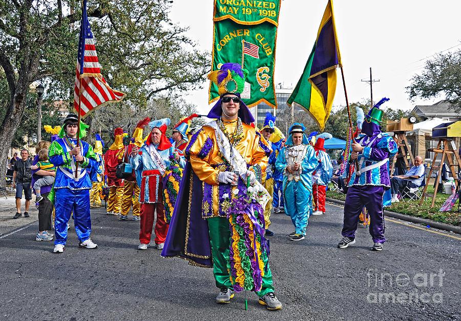 Mardi Gras Photograph - Corner Club 3 -mardi Gras New Orleans by Kathleen K Parker