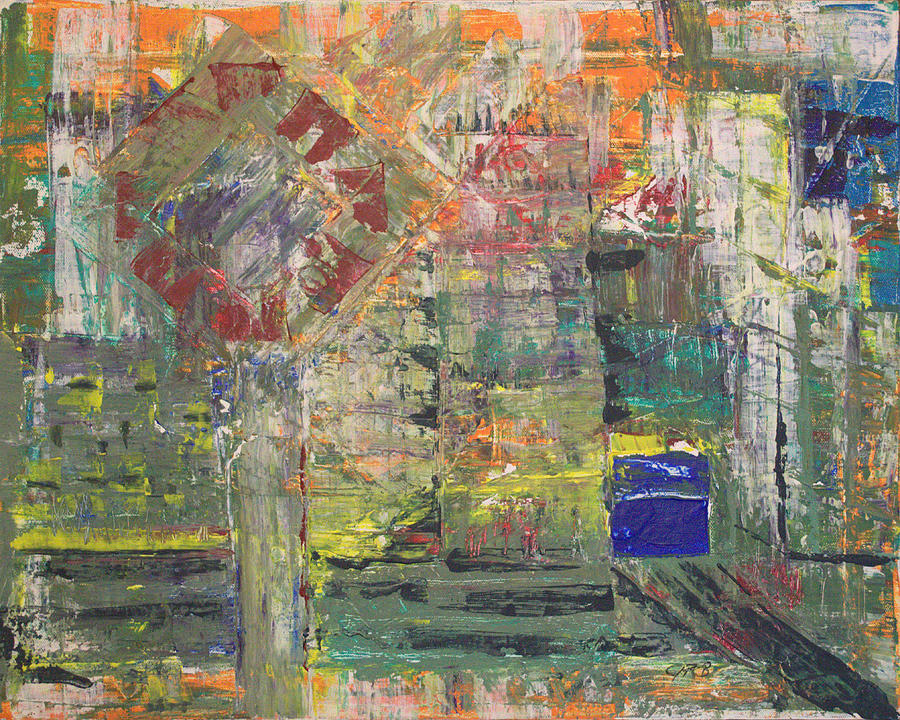 Abstract Painting Painting - Corner Deli by J R Seymour