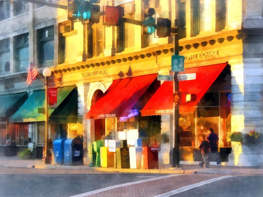 City Photograph - Corner Of Center And Merchant Rutland Vt by Susan Savad