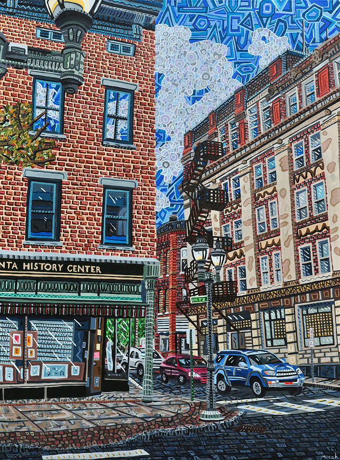 Oneonta Painting - Corner Of Dietz And Main Oneonta Ny by Micah Mullen