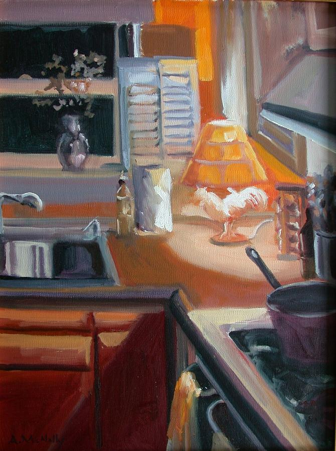 Interior Painting - Corner Of My Kitchen by Anne McNally