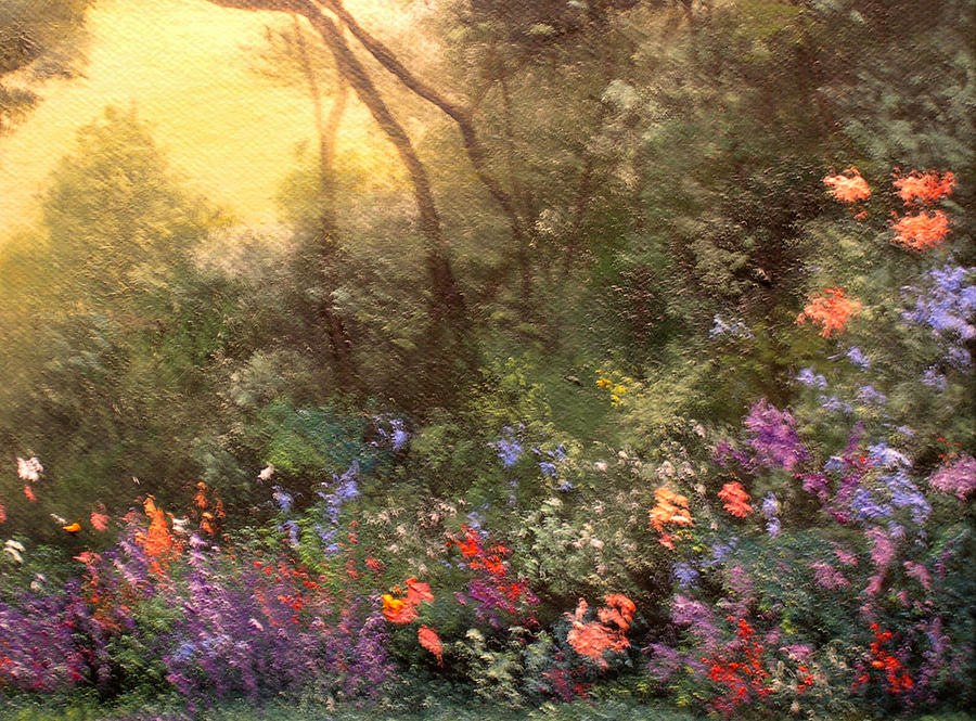 Hudson River School Painting - Corner Of The Garden by Connie Tom
