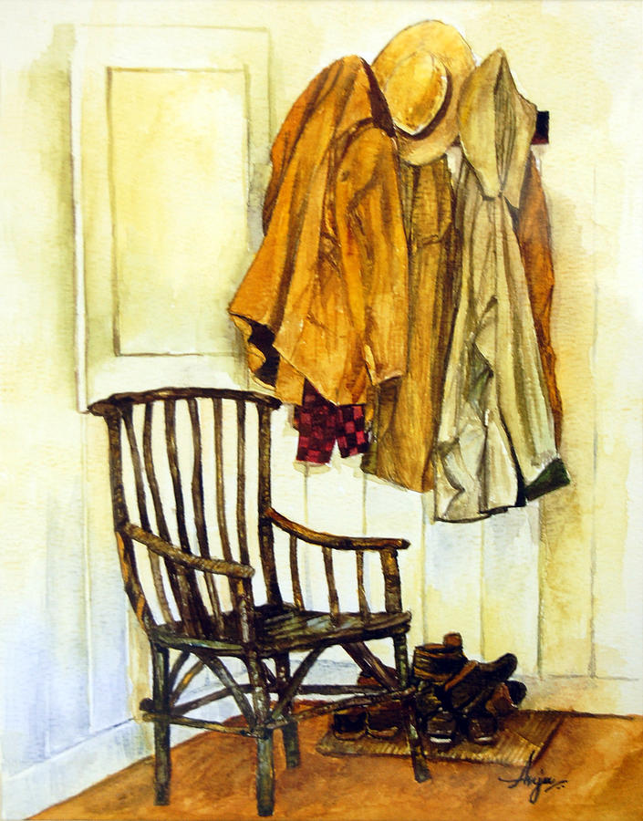 Watercolor Painting - Corner Of The House by Anju Saran