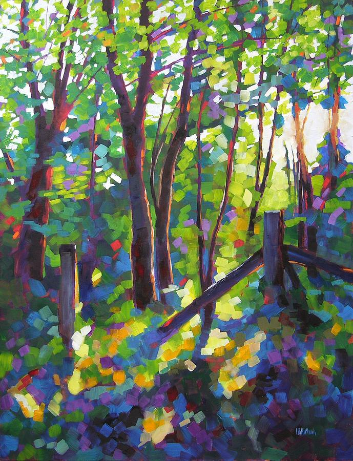Trees Painting - Corner Post by Mary McInnis