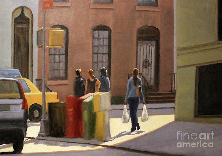 Street Corner Painting - Corner stop by Tate Hamilton