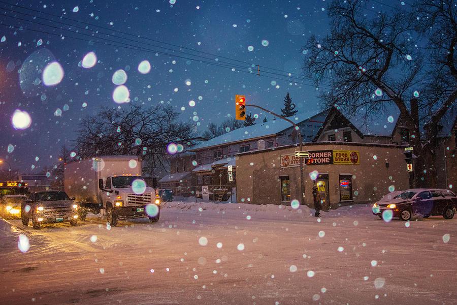 Manitoba Photograph - Corner Store by Bryan Scott