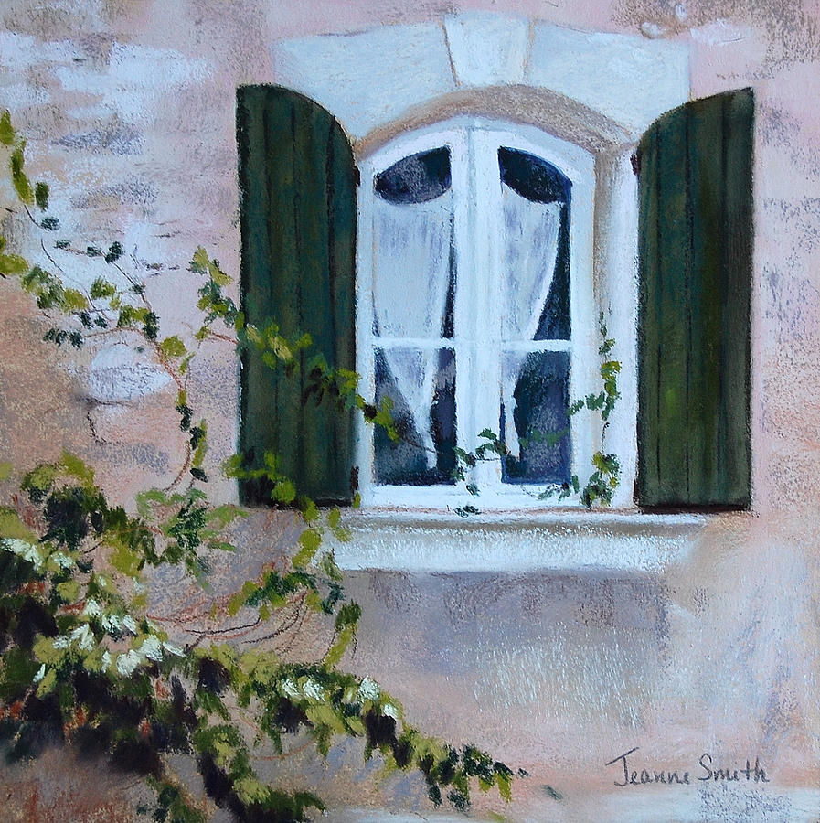 French Painting - Corner Window by Jeanne Rosier Smith
