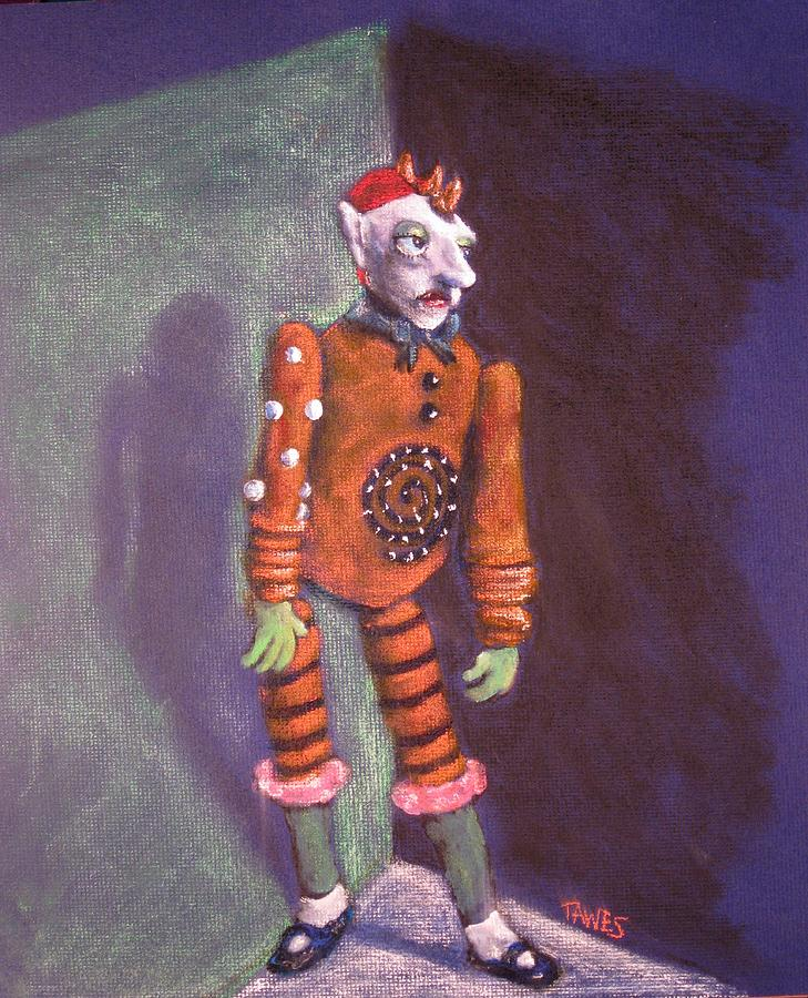 Acrylic Painting - Cornered Marionette Strings Not Included by Dennis Tawes