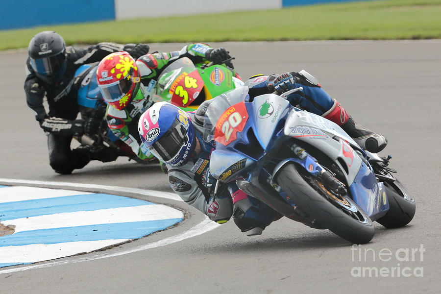 Motorcycle Racing Photograph - Cornering Motorcycle Racers by Peter Hatter