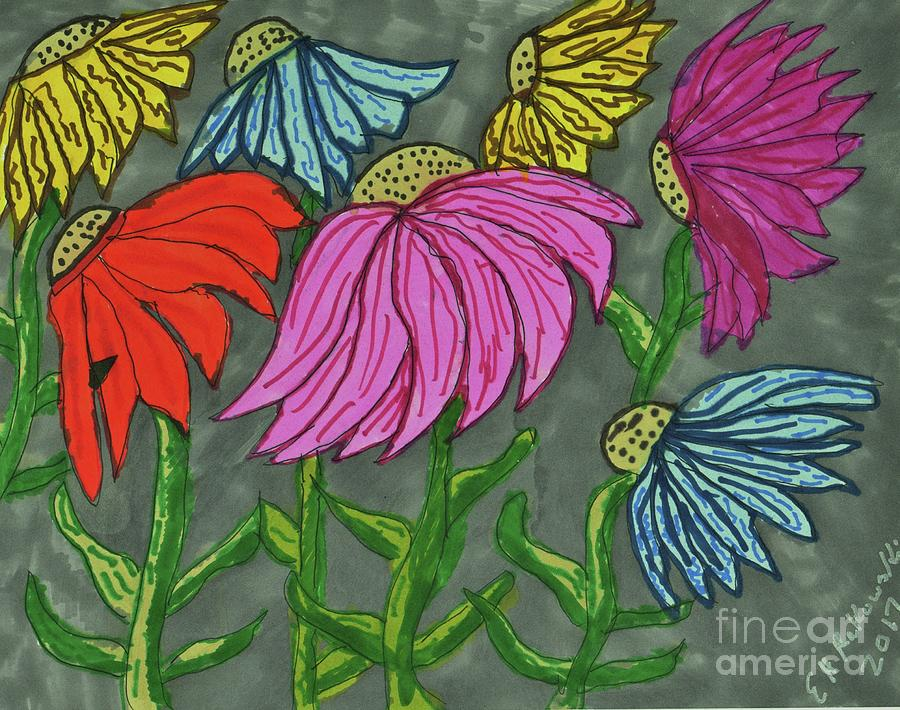 Cornflowers in Bloom by Elinor Helen Rakowski