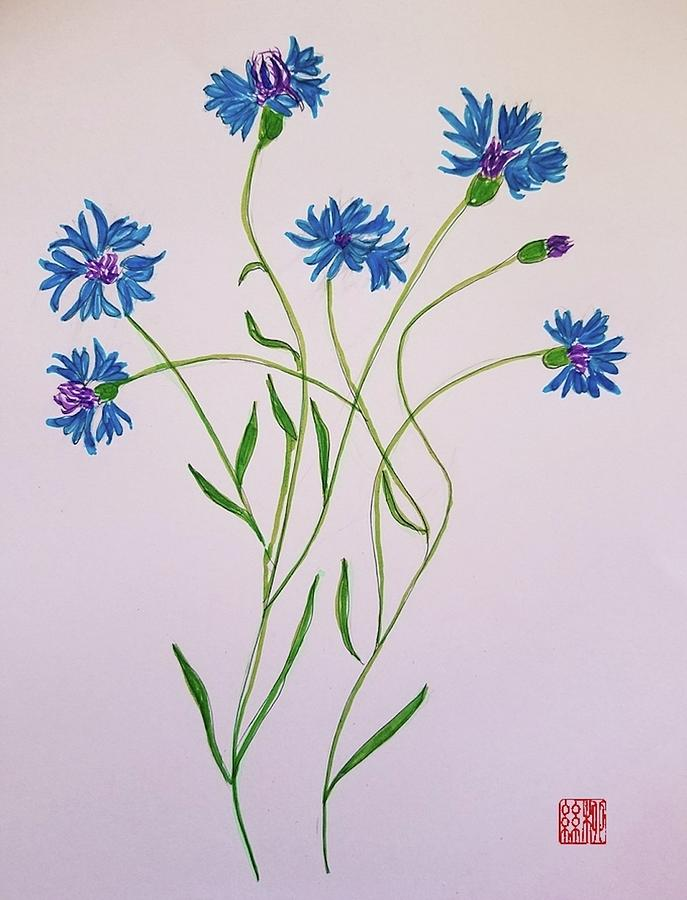 Cornflowers by Margaret Welsh Willowsilk