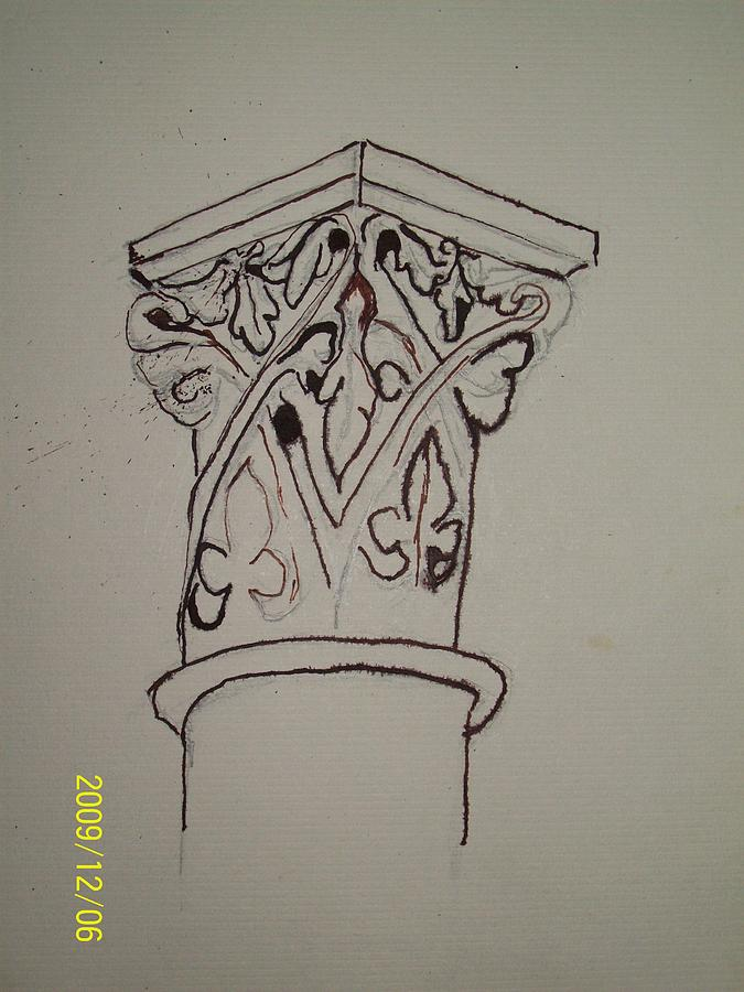 Architecture Drawing - Cornice And Column by Nancy Caccioppo