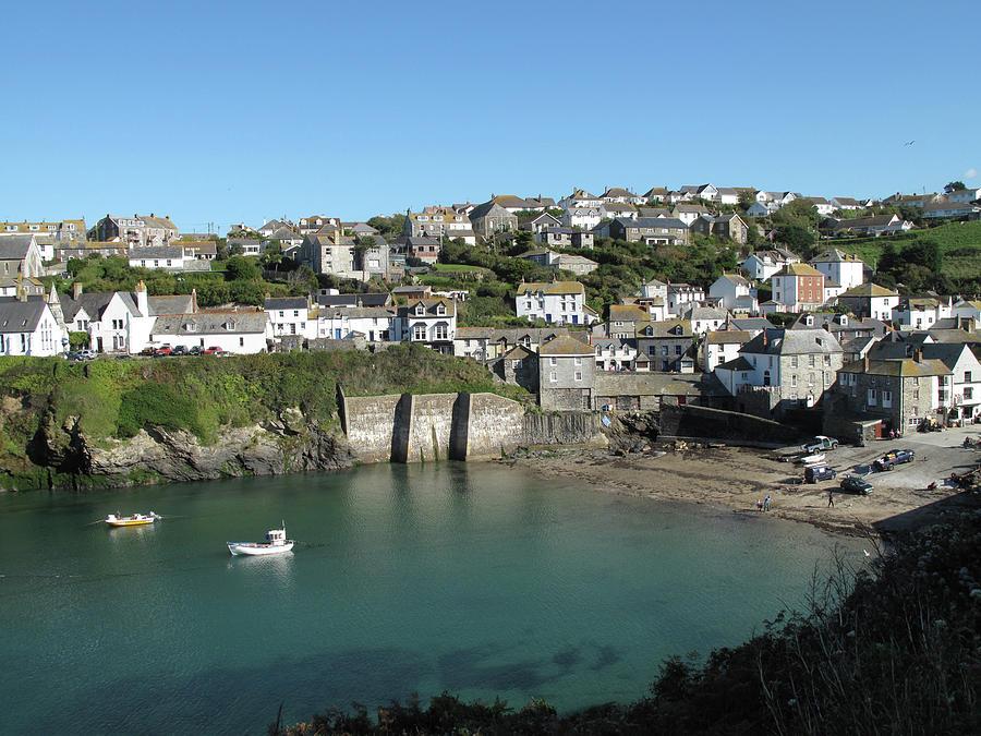 Horizontal Photograph - Cornish Fishing Village Of Port Isaac, Cornwall by Thepurpledoor