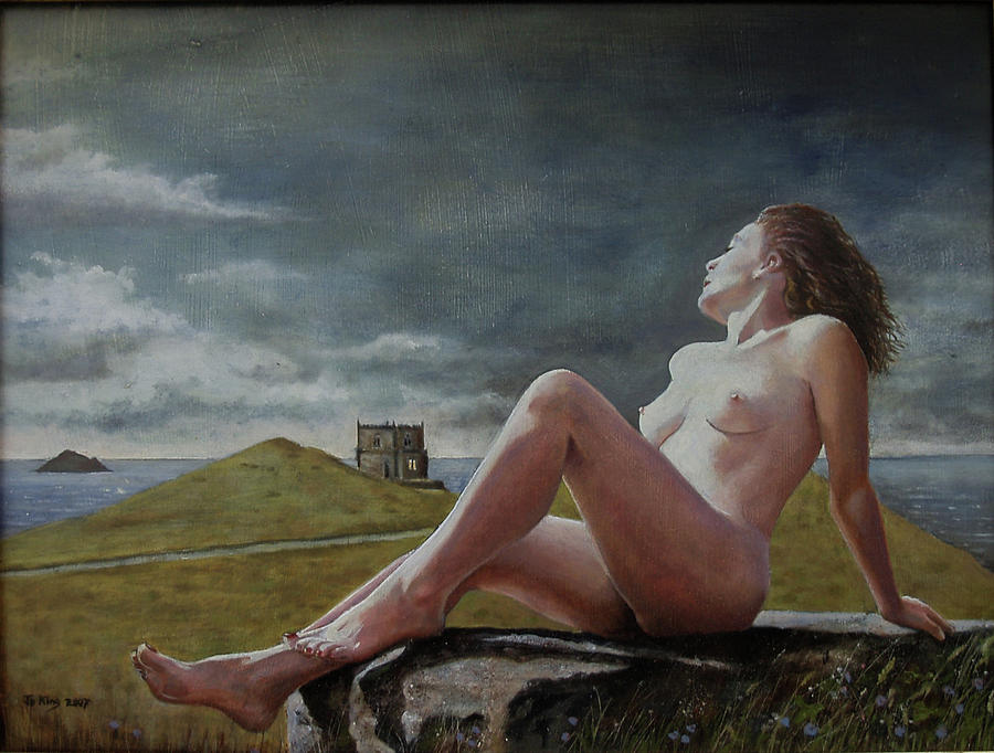 Nude Painting - Cornish Triangles by Jo King