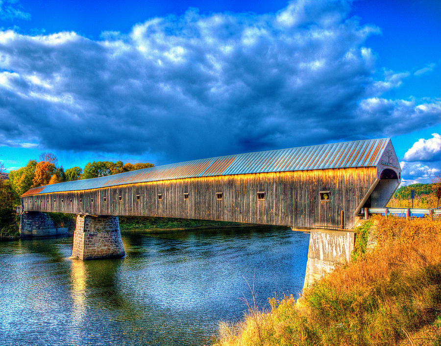 Cornish Windsor Covered Bridge 3546 Photograph