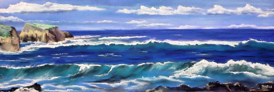 Pastel Painting - Cornwall Coast by Dick Stolp