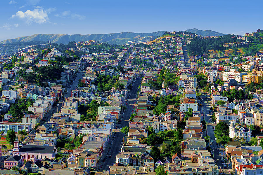 Corona Heights, Eureka Valley Soft Morning Light Cityscape, San Francisco 1990 Photograph