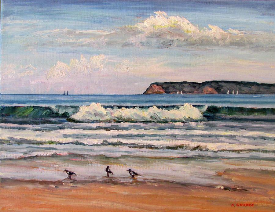 f0980d5b15 Coronado Beach Surf Painting by Robert Gerdes