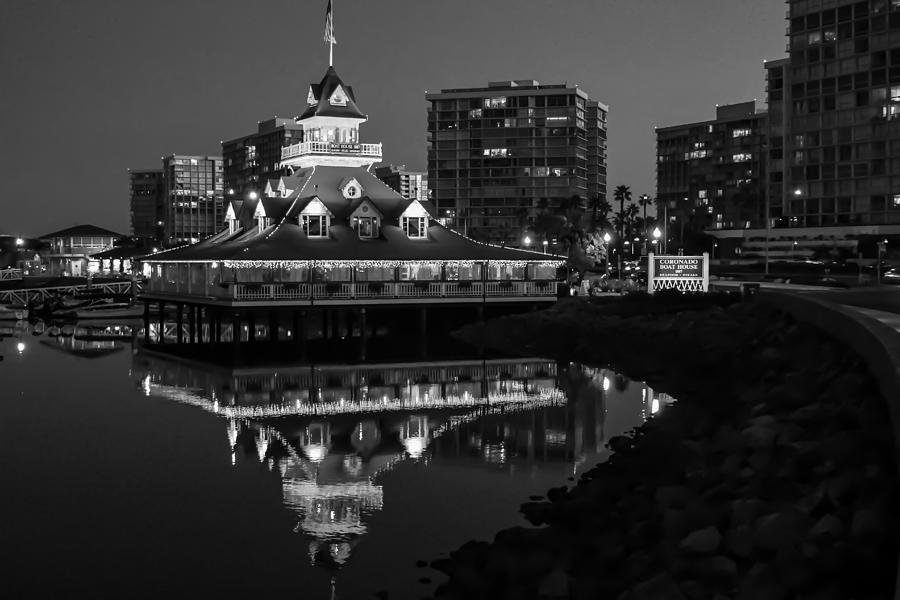 San Photograph - Coronado Boat House by Robert Aycock