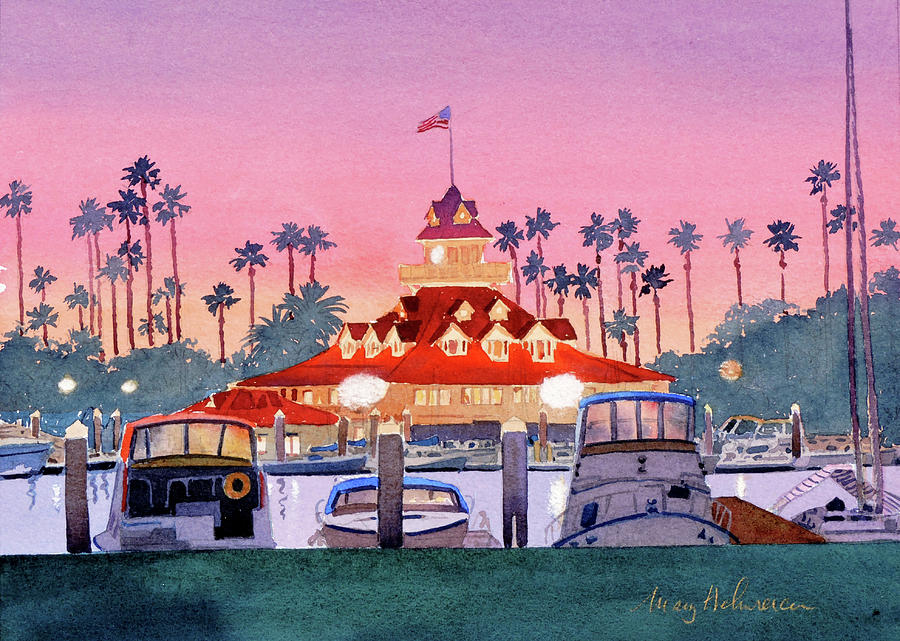 Coronado Boathouse after Sunset by Mary Helmreich