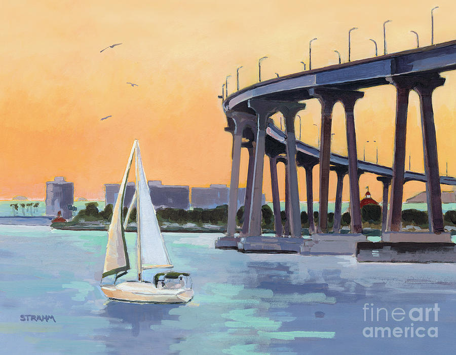 Coronado Bridge San Diego by Paul Strahm