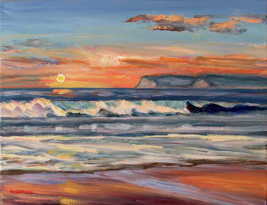 f9a680d1e0 Coronado Painting - Coronado Sunset Surf by Robert Gerdes