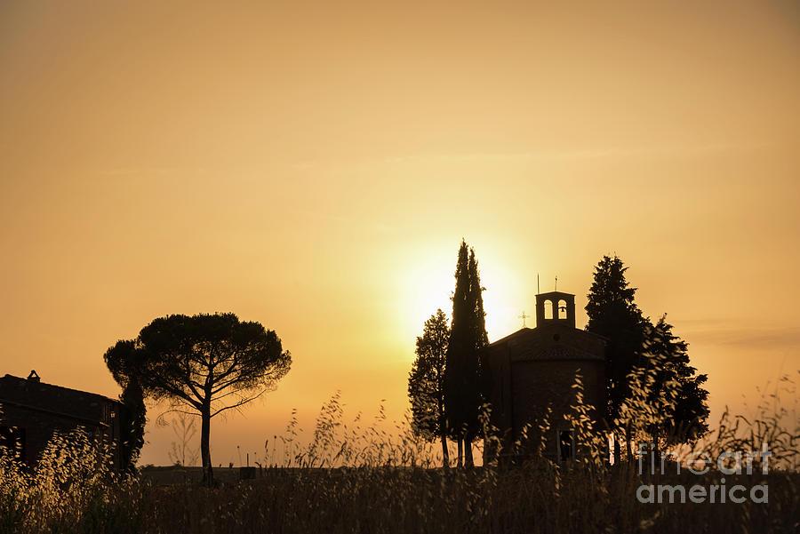 Tuscany Photograph - Vitaleta Chapel by Delphimages Photo Creations