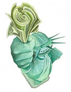 Corporate America Painting - Corporate America by Israel Reza