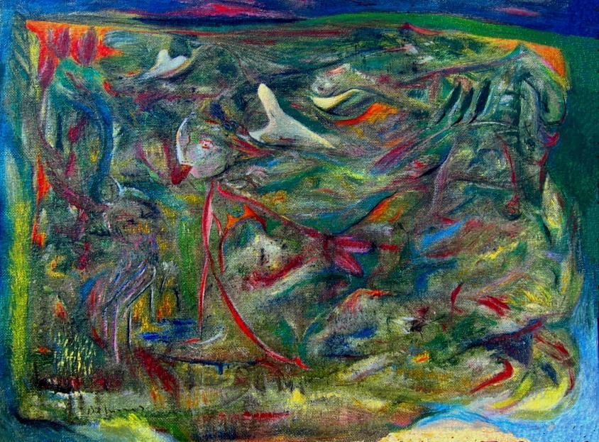 Correva La Ragazza Spaventata Verso I Campi Di Grano Painting by Adolfo De Turris