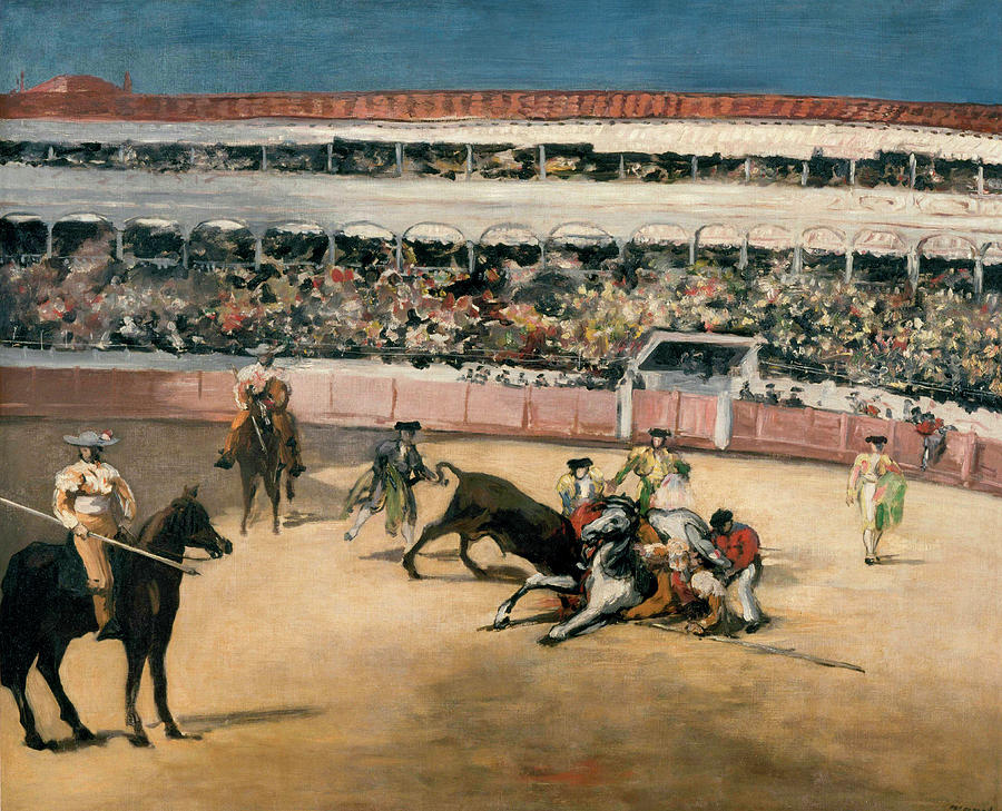 Corrida Painting - Corrida by Claude Monet