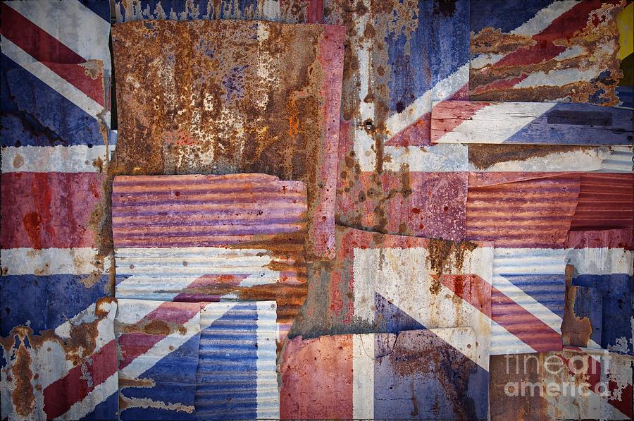 United Photograph - Corrugated Iron United Kingdom Flag by Antony McAulay